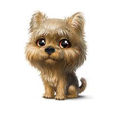 Водорастворимая бумага Собаки большеглазые