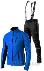 Утеплённый лыжный костюм 905 Victory Code Dynamic 2019 Blue с лямками мужской