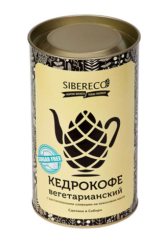 Кедрокофе Вегетарианский, без сахара, тубус 500 г