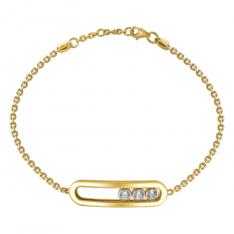 01Б132679 - Браслет из желтого золота 585 пробы в стиле MESSIKA