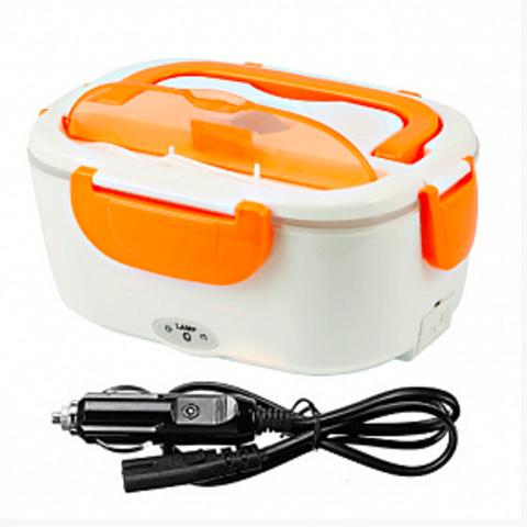 Электрический ланч бокс с подогревом от прикуривателя (Оранжевый)
