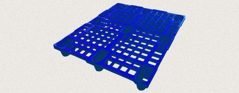 Поддон пластиковый перфорированный 1200x1000x150 мм. Цвет: Синий
