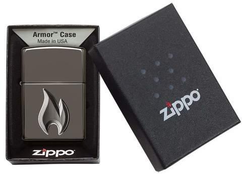 Зажигалка Zippo Armor с покрытием High Polish Blue, латунь/сталь, синяя, глянцевая, 36x12x56 мм123
