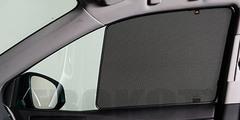 Каркасные автошторки на магнитах для Chery M11 (A3) (2010-2014) Хетчбек. Комплект на передние двери (укороченные на 30 см)