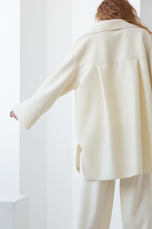 Куртка-рубашка на кнопках, цвет молоко