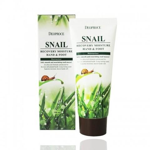Deoproce Hand & Foot Snail Recovery крем для рук и ног с муцином улитки