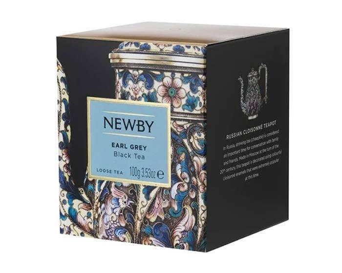 Чай черный листовой Newby Heritage Earl grey, 100 г