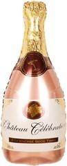 К Фигура, Бутылка Шампанское, Розовое Золото, 36''/91 см,1 шт.