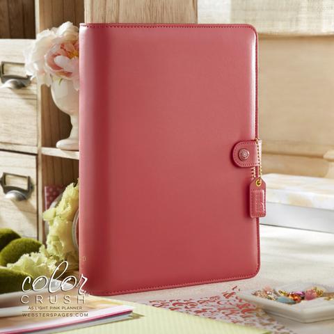 Планер A5 BINDERS ONLY: Light Pink by Websters Pages. БЕЗ внутреннего наполнения