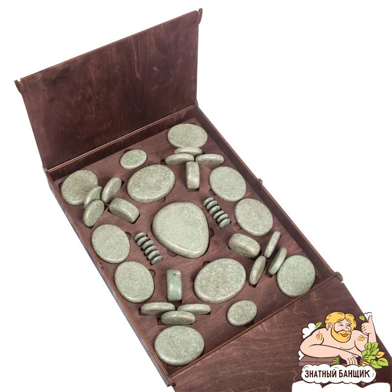 Набор камней жадеита для стоун-терапии
