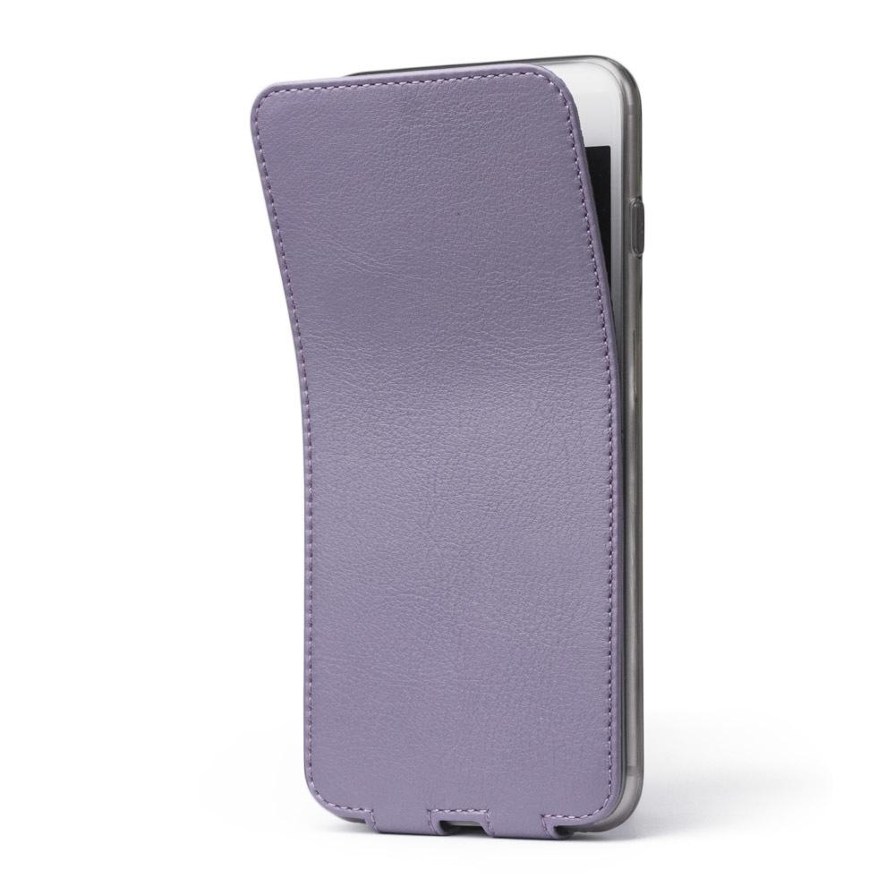 Чехол для iPhone 8 Plus из натуральной кожи теленка, фиолетового цвета