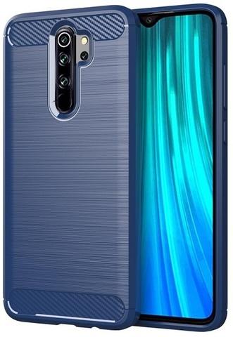 Чехол для Xiaomi Redmi Note 8 Pro цвет Blue (синий), серия Carbon от Caseport