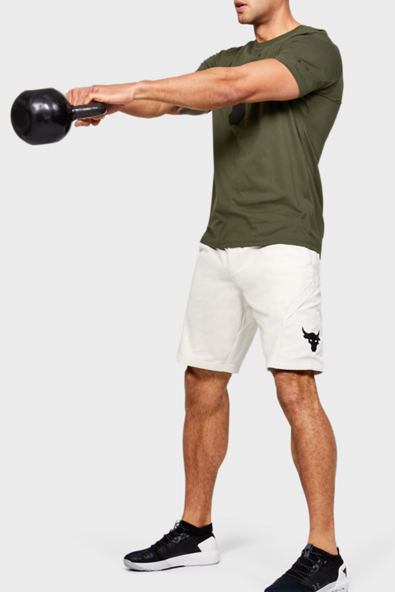 Мужская зеленая футболка Project Rock Brahma Bull SS Under Armour
