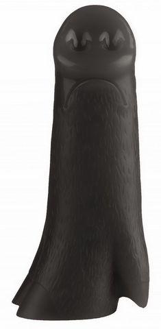 Черная анальная втулка в виде поросячьего пятачка - 23 см.