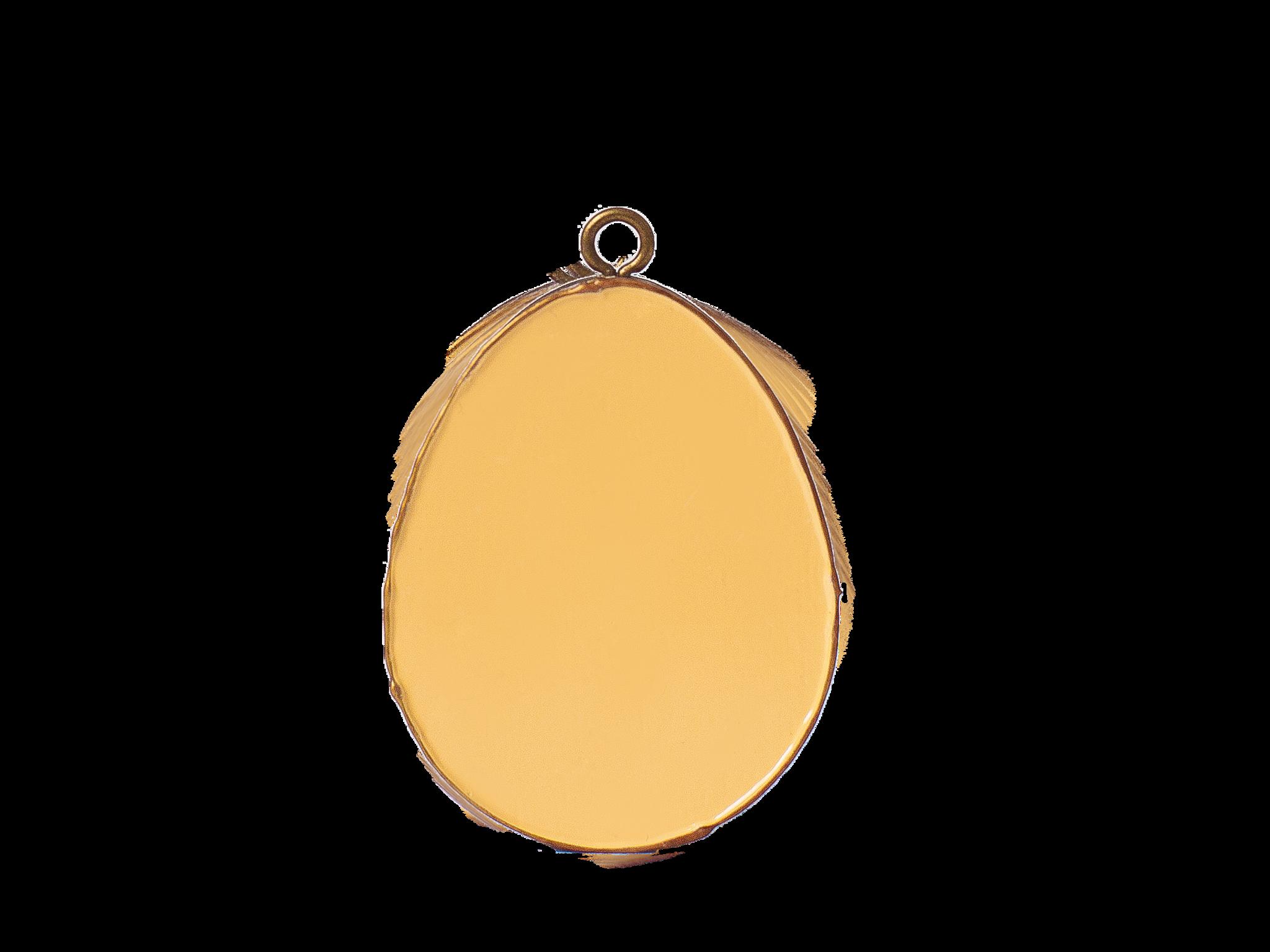 Пасхальное украшение Яйцо без Декора, цвет: светло-желтый