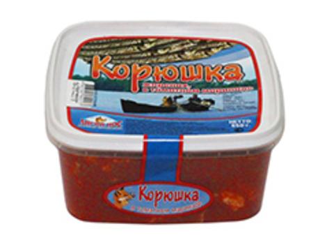 Корюшка жареная в томатном маринаде 650г (уп)