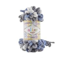 Пряжа Alize Puffy Color цвет 6075