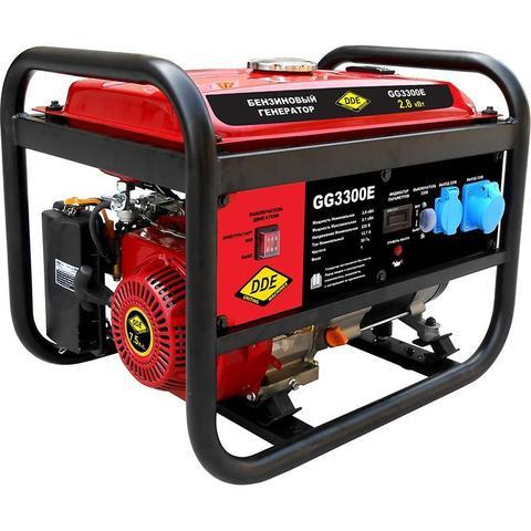 Генератор бензиновый DDE GG3300E (Эл.Стартёр, 1ф ном/макс.  2,8/3,1 кВт, UP170, т/бак 15л, (GG3300E), шт
