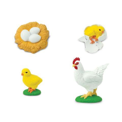 Набор фигурок Жизненный цикл курицы Safari Ltd 662816