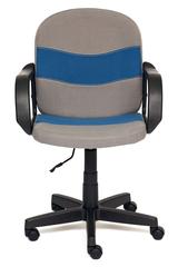 Кресло компьютерное Багги (Baggi) — серый/синий (С27/С24)
