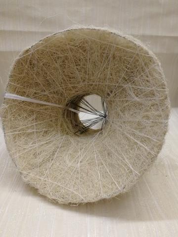 Каркас для букета гладкий (сизаль, диаметр: 15 см) Цвет: белый