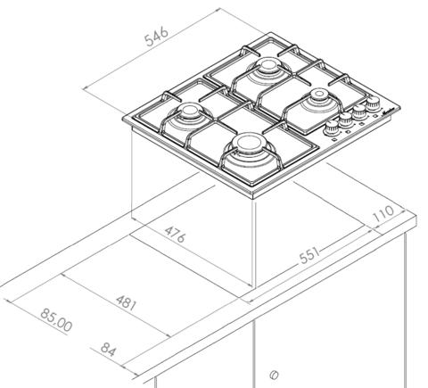 Варочная поверхность MONSHER MHG 61 X