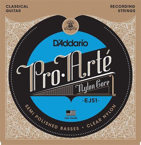 D'ADDARIO EJ51 SET PRO-ARTE CLEAR/SILV RECORD Струны для классической гитары