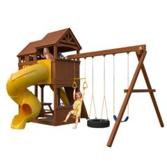 Детский игровой комплект New Sunrise c винтовой горкой