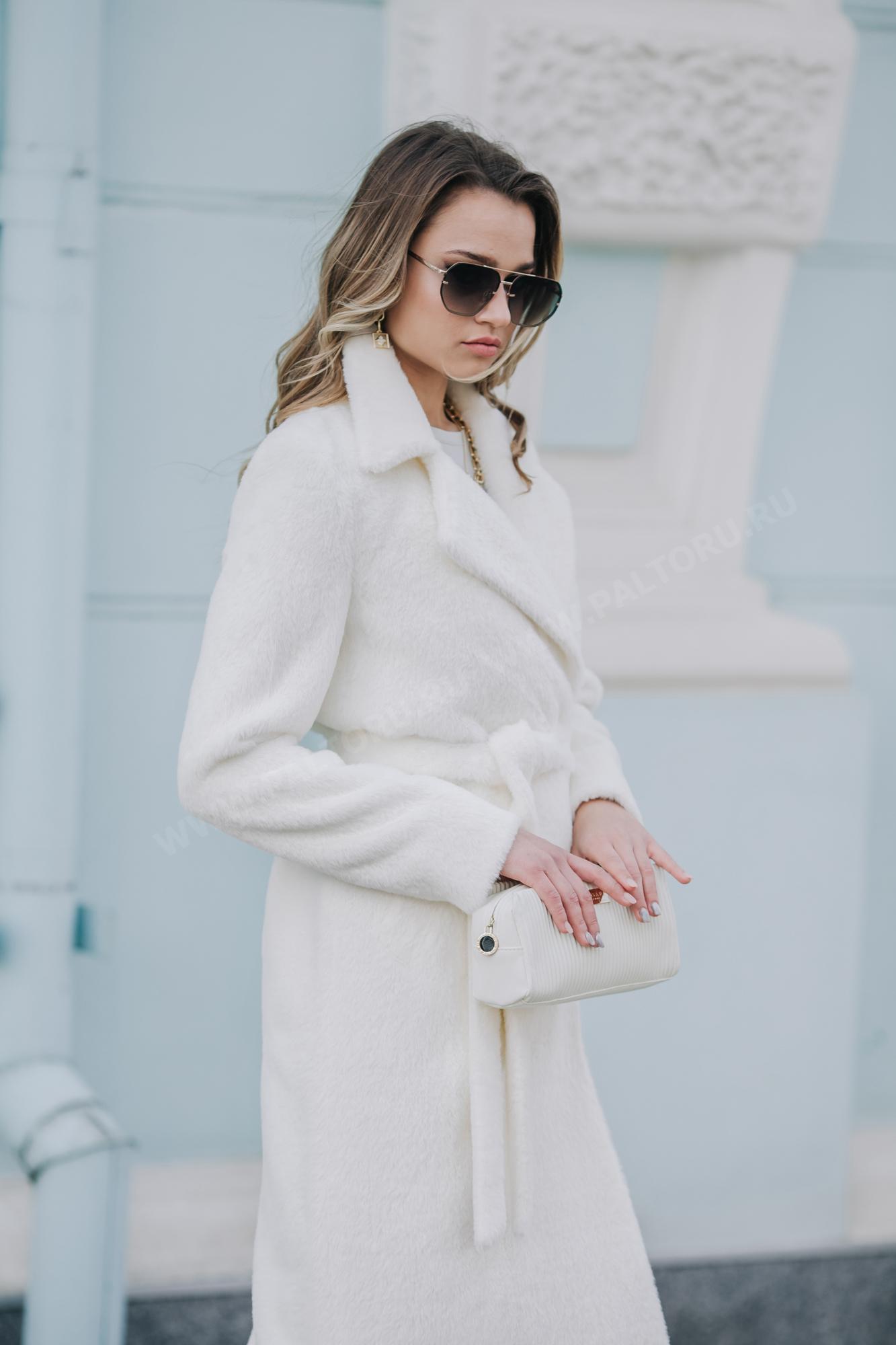 Пальто женское ворсовое