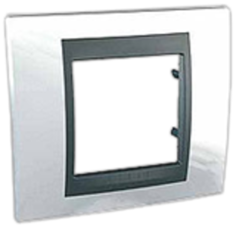 Рамка на 1 пост. Цвет Нордик-графит. Schneider electric Unica Top. MGU66.002.292