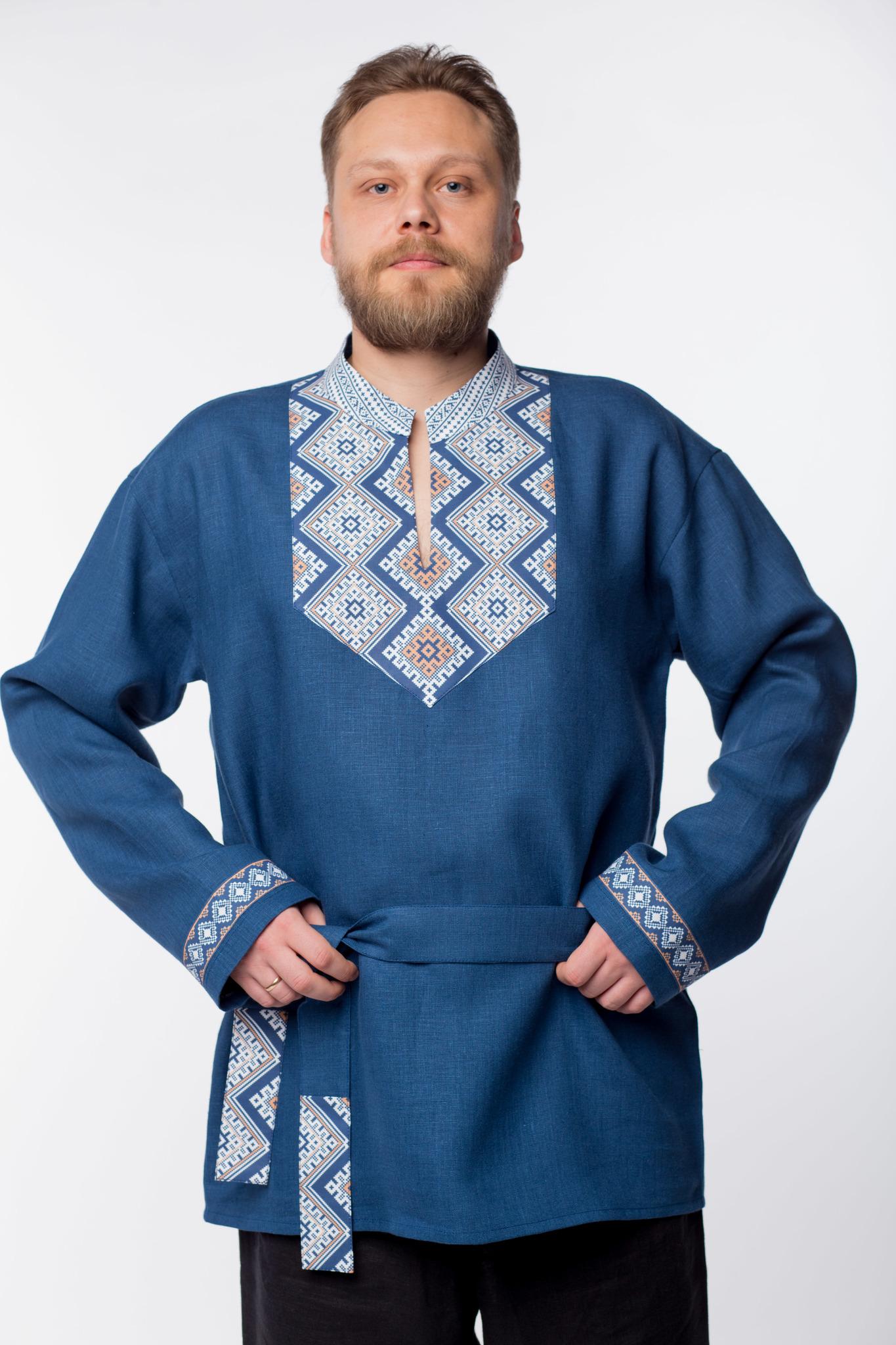 Рубаха мужская Алтайская приближенный фрагмент