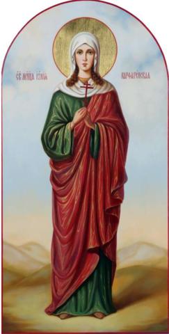 Икона святая Юлия Карфагенская на дереве на левкасе мастерская Иконный Дом