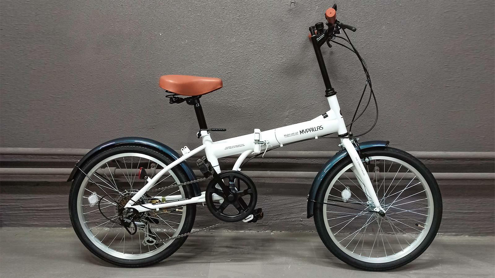 городской складной велосипед MyPallas M200 белый