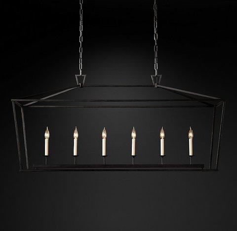 Подвесной светильник копия 19th C. English Openwork Linear Pendant by Restoration Hardware