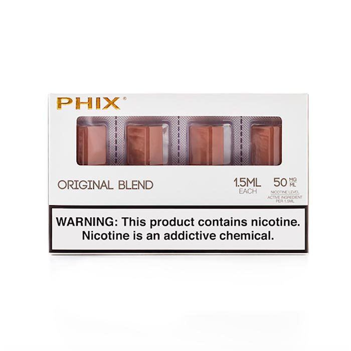 Сменный Картридж для PHIX.ФИКС Ориджинал Тобакко Бленд х4, 1.5 мл 50 мг