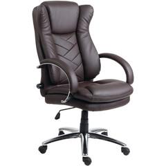Кресло для руководителя Easy Chair 541 TL коричневое (кожа/металл)