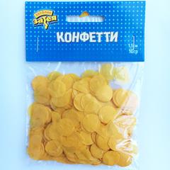 Конфетти тишью, Круги Желтые, 1,5см, / 10гр. /