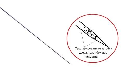 Текстурированная игла 1R 0,30мм
