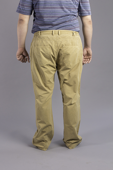 Выкройка мужских джинсов вид сзади