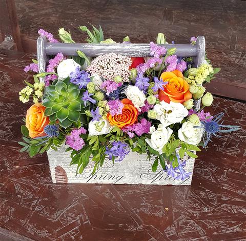 Ящик с цветами Весна