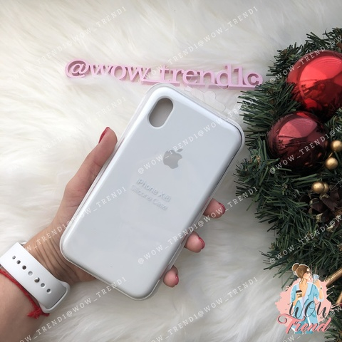 Чехол iPhone XR Silicone Case /white/ белый 1:1