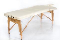 Массажный стол деревянный 3-хсекционный RESTPRO Classic 3 Cream