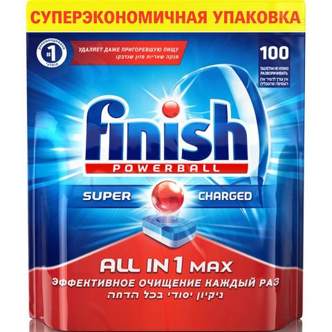 Таблетки для посудомоечных машин Finish Powerball All in 1 Max (100 штук в упаковке)