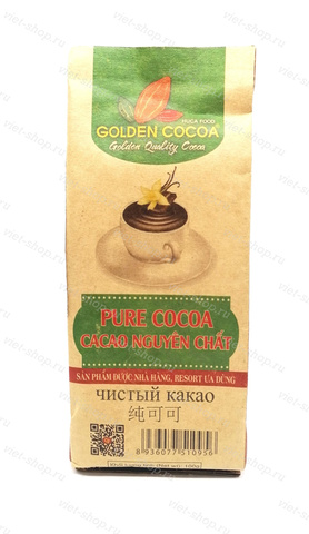 Вьетнамский какао-порошок Hucafood, 100% какао, 100 гр., крафт-пакет