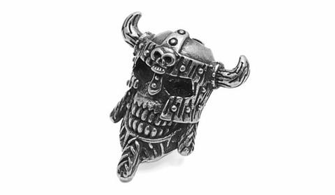 Бусина для темляка Череп викинга PTB08S