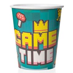 Стаканы бумажные, Game Time, Пиксели, 250 мл, 6 шт.