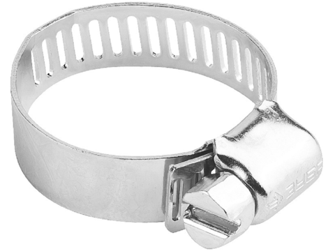 Хомуты оцинкованные, просечная лента 12.7 мм, 57-76 мм, 2 шт, ЗУБР