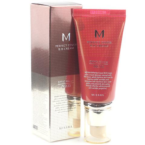 BB крем с высокой степенью покрытия Missha M Perfect Cover Bb Cream Spf42, тон 13, 50 мл
