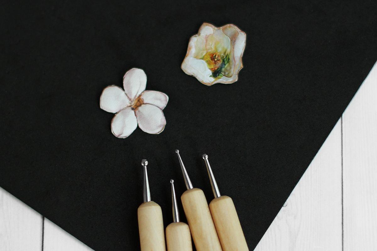 Стеки - бульки с деревянной ручкой, набор в работе