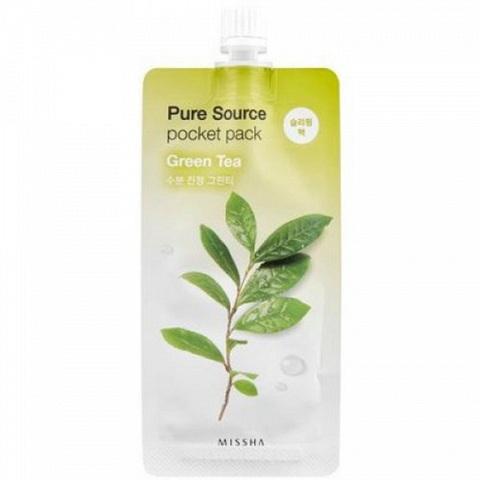 Missha Pure Source Pocket Pack ночная маска с Зеленым чаем